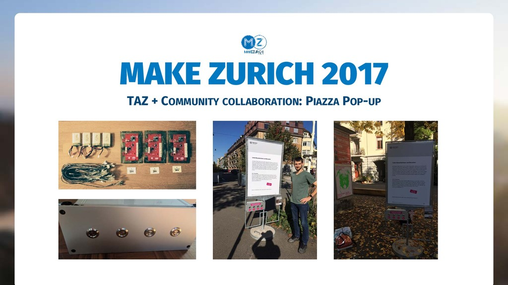 TAZ + COMMUNITY COLLABORATION: PIAZZA POP-UP MA...
