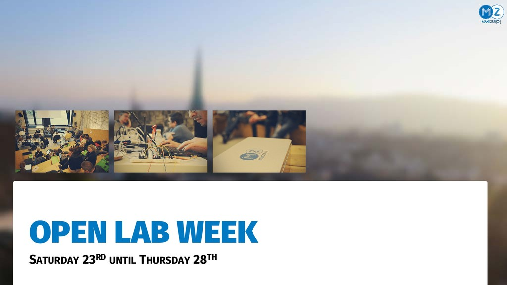 OPEN LAB WEEK SATURDAY 23RD UNTIL THURSDAY 28TH