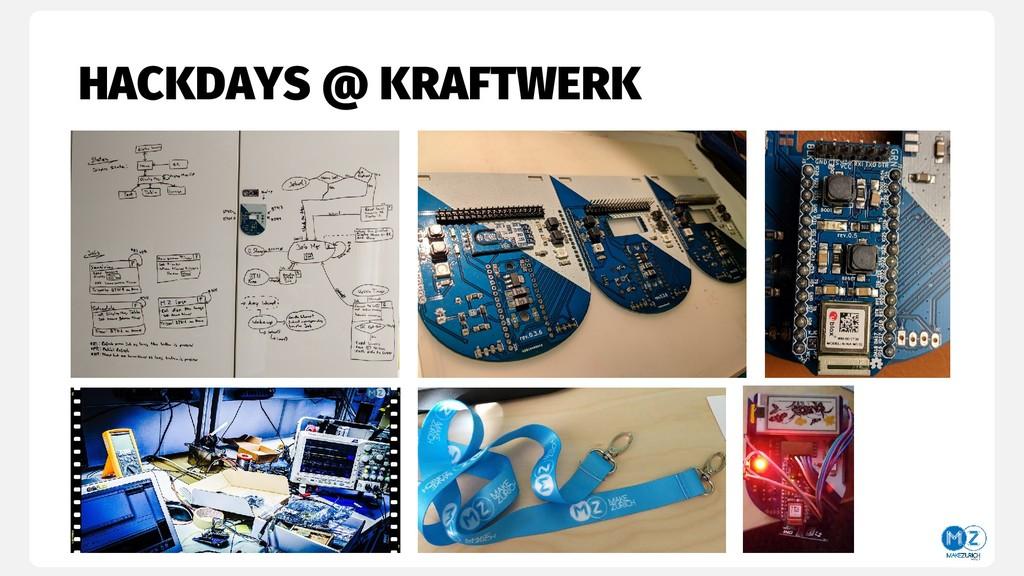 HACKDAYS @ KRAFTWERK