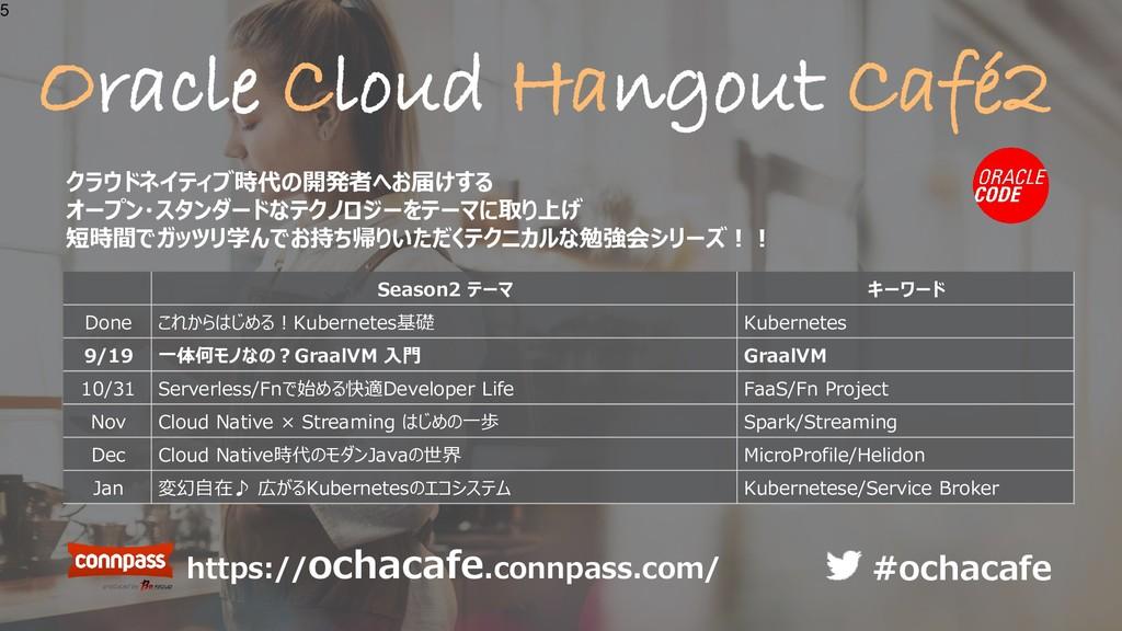 Oracle Cloud Hangout Café2 5 Season2 テーマ キーワード ...