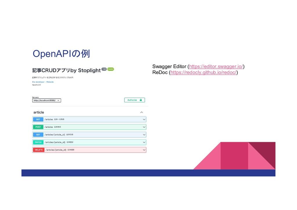 OpenAPIの例 Swagger Editor (https://editor.swagge...