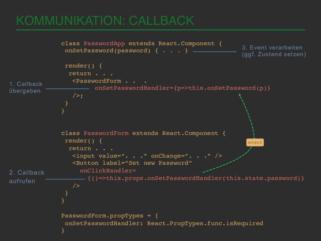 KOMMUNIKATION: CALLBACK! class PasswordApp exte...
