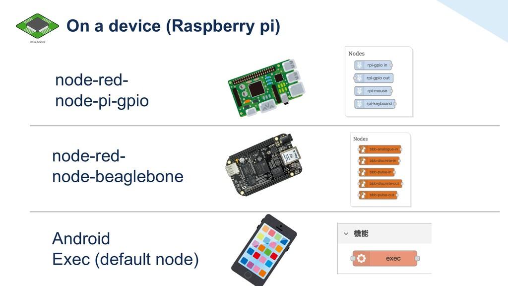On a device (Raspberry pi) node-red- node-pi-gp...