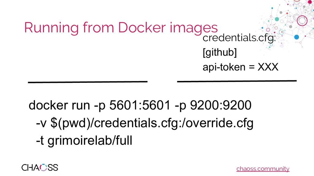 chaoss.community Running from Docker images doc...