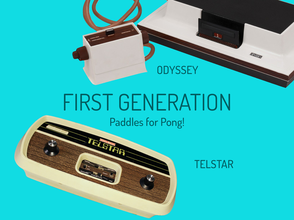 ODYSSEY TELSTAR FIRST GENERATION Paddles for Po...