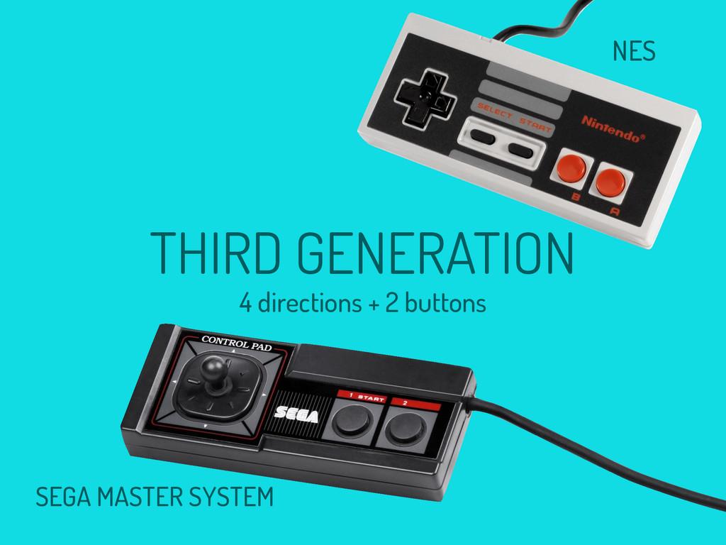 NES SEGA MASTER SYSTEM THIRD GENERATION 4 direc...
