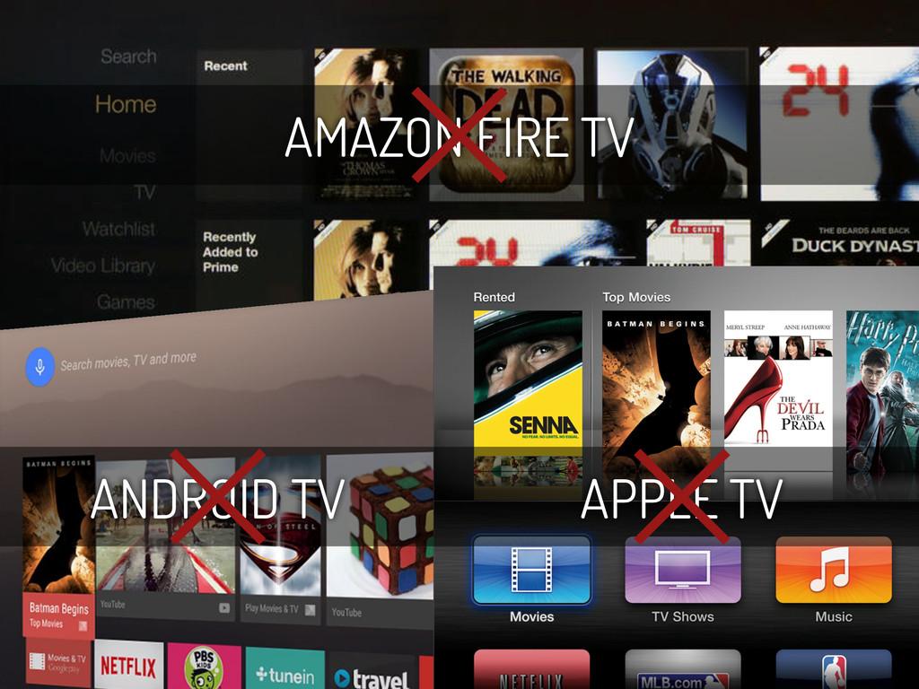 ANDROID TV APPLE TV AMAZON FIRE TV