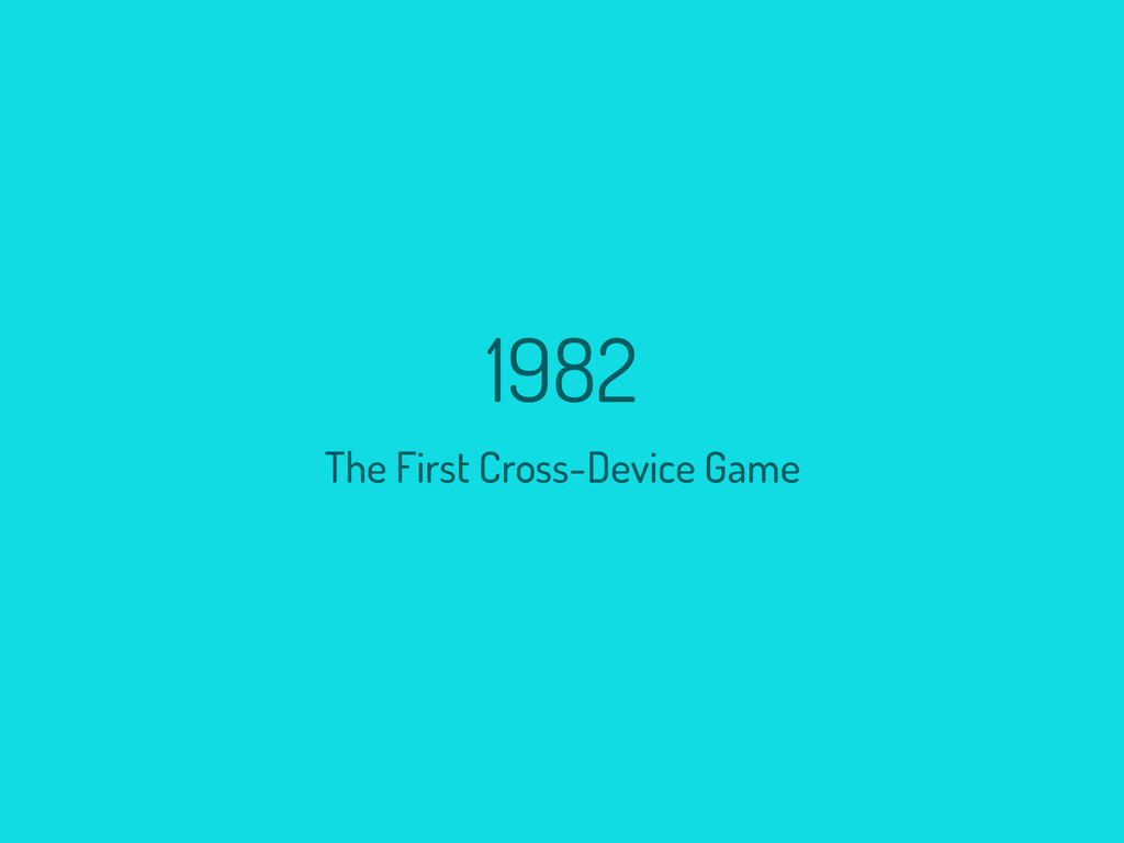 1982 The First Cross-Device Game