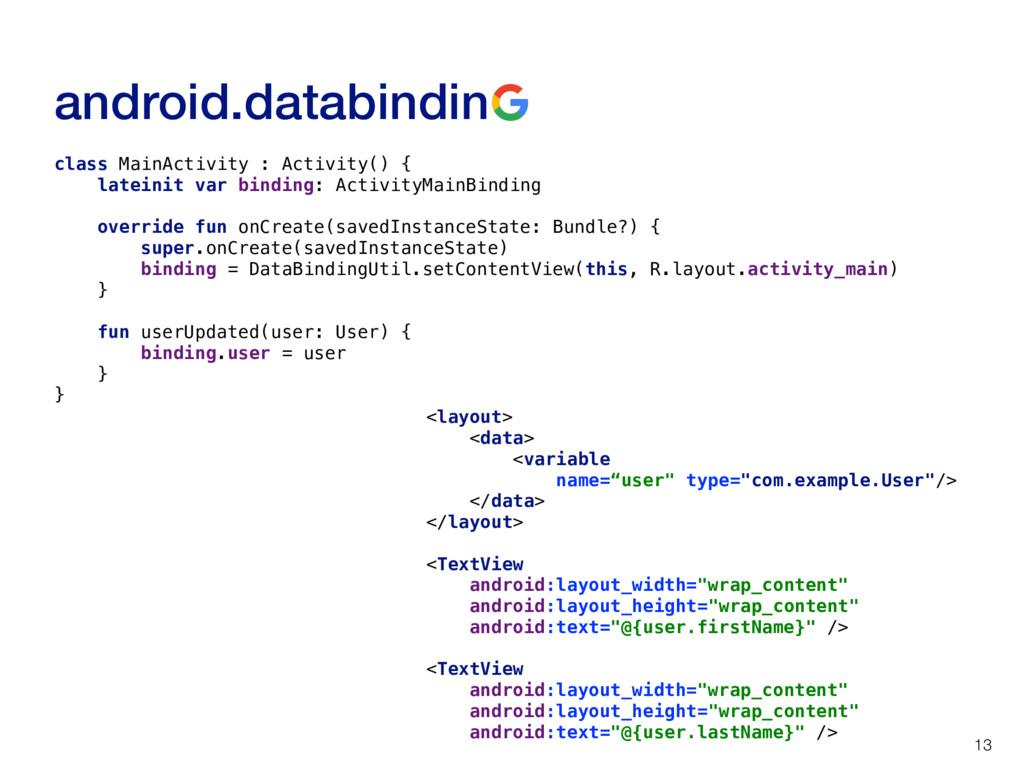 android.databindin 13 class MainActivity : Acti...