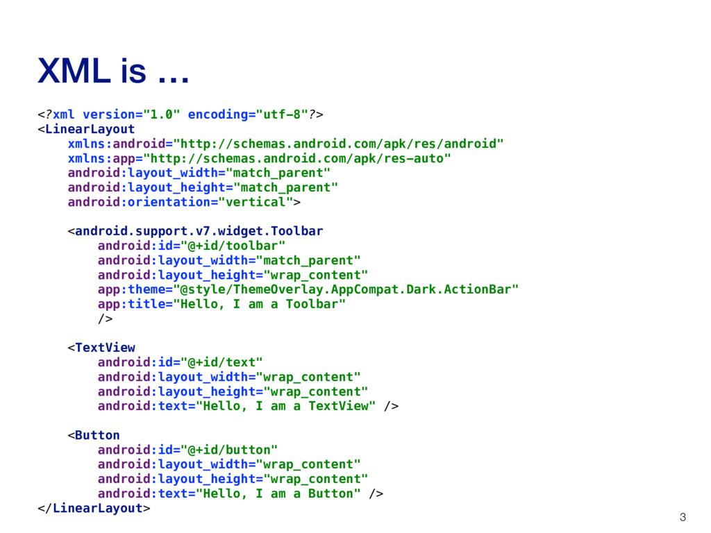 """XML is … 3 <?xml version=""""1.0"""" encoding=""""utf-8""""..."""
