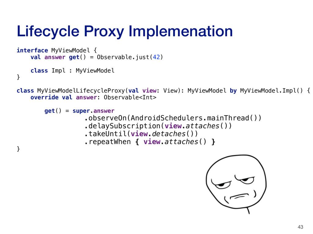 Lifecycle Proxy Implemenation 43 interface MyVi...