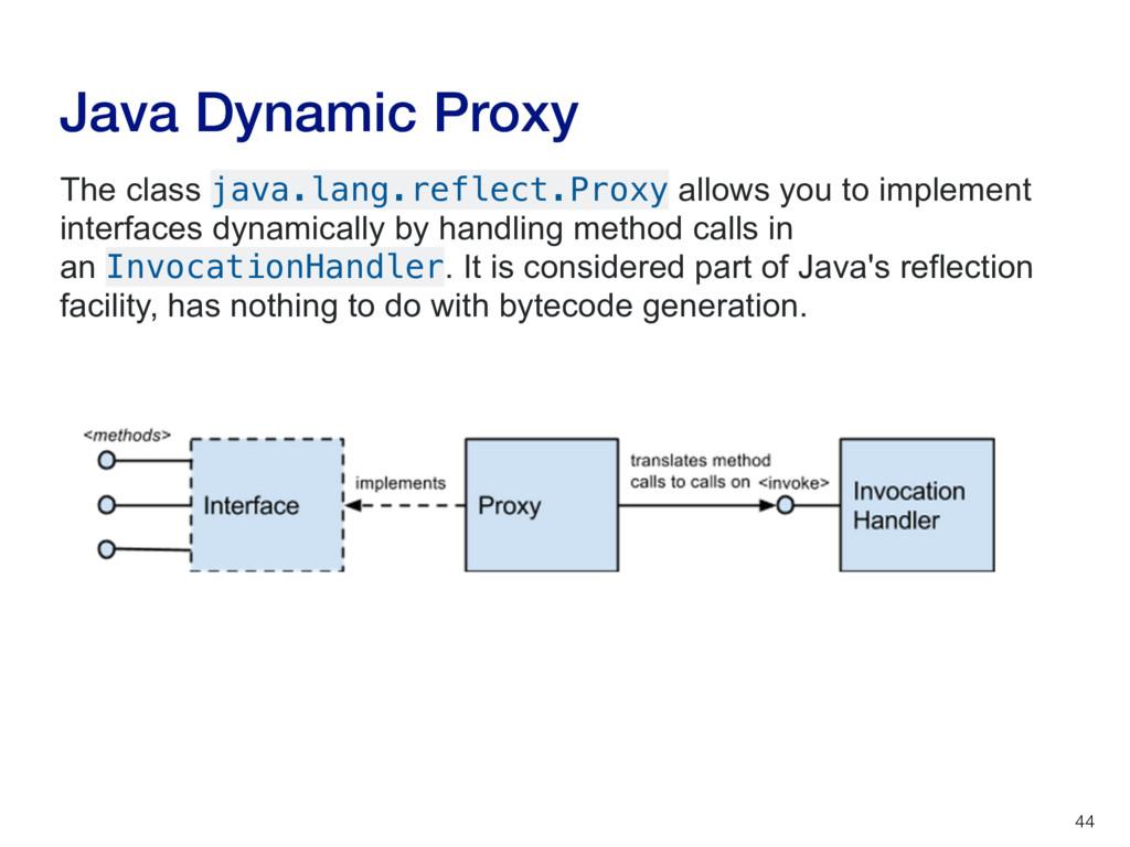 Java Dynamic Proxy 44 The class java.lang.refle...