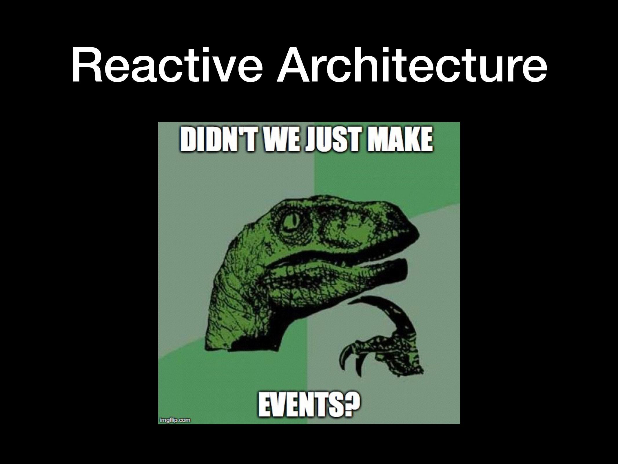 Reactive Architecture