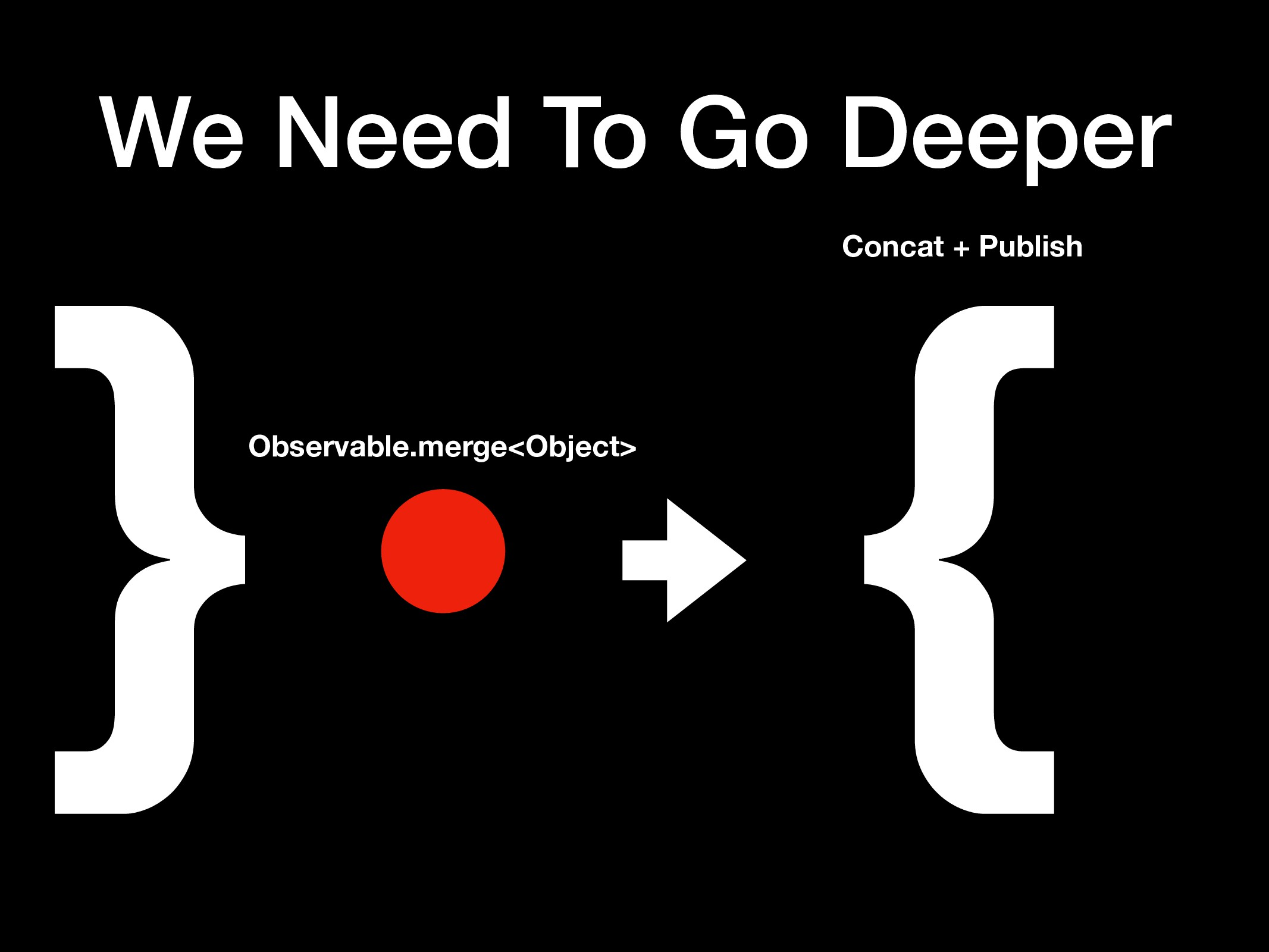 We Need To Go Deeper }Observable.merge<Object> ...