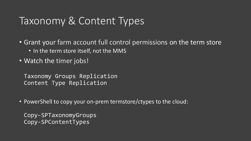 Taxonomy & Content Types • Grant your farm acco...