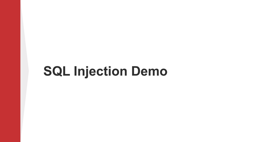 SQL Injection Demo
