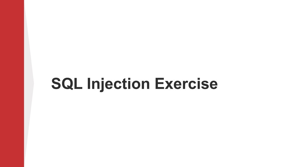 SQL Injection Exercise