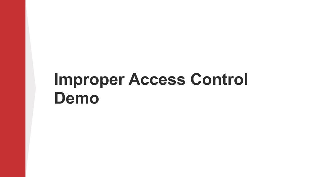 Improper Access Control Demo