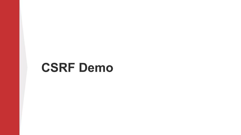 CSRF Demo