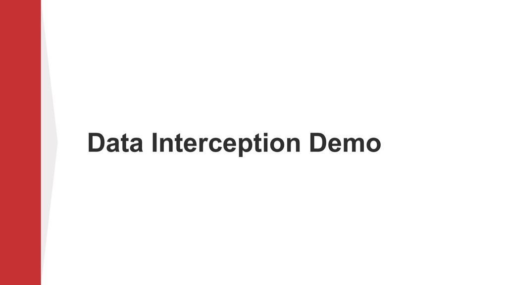 Data Interception Demo