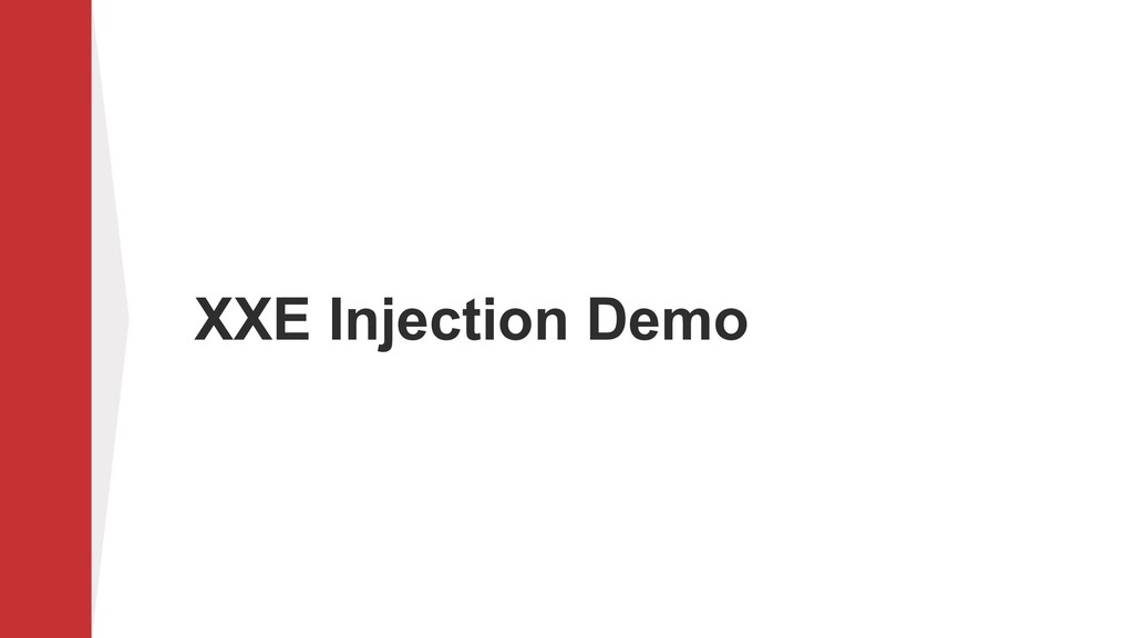 XXE Injection Demo