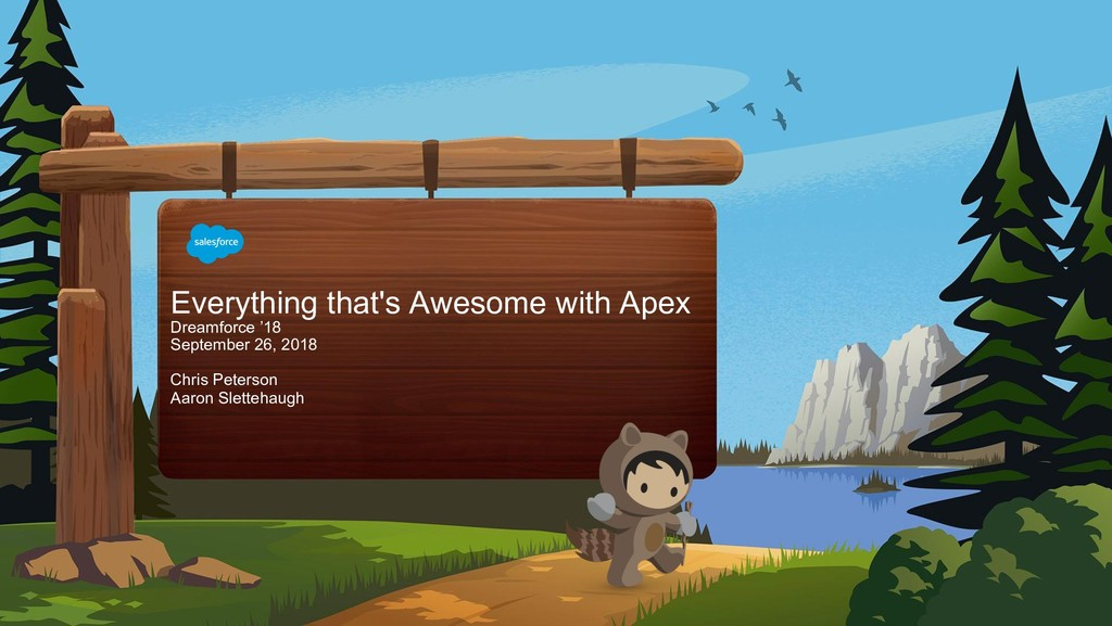 Everything that's Awesome with Apex Dreamforce ...