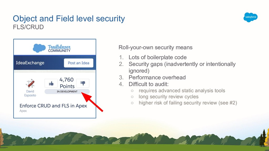 Object and Field level security Roll-your-own s...