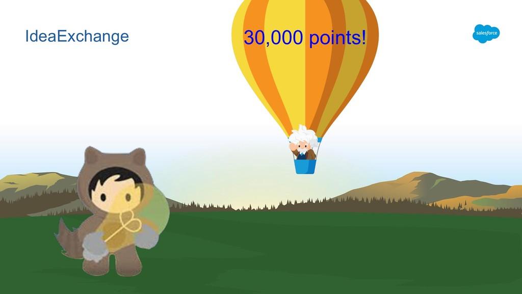 IdeaExchange 30,000 points!