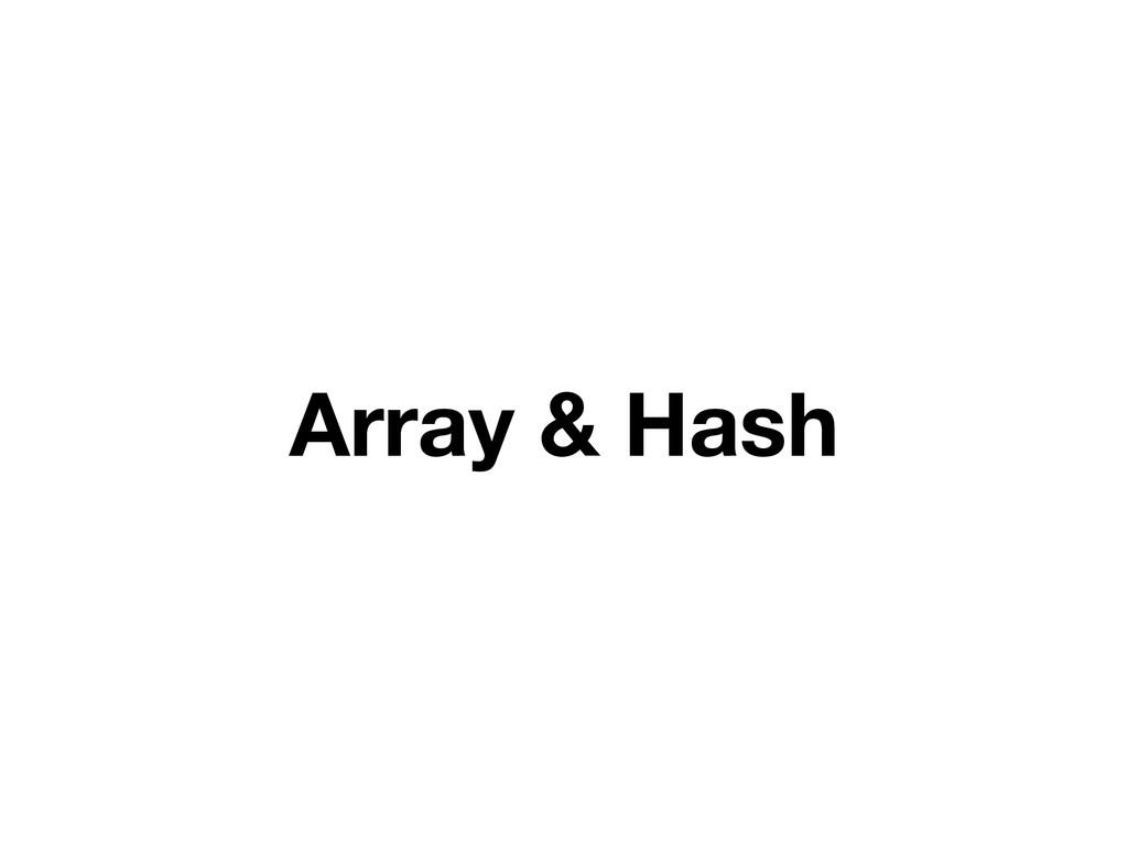 Array & Hash