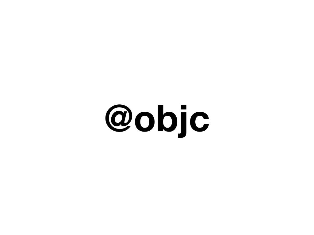 @objc