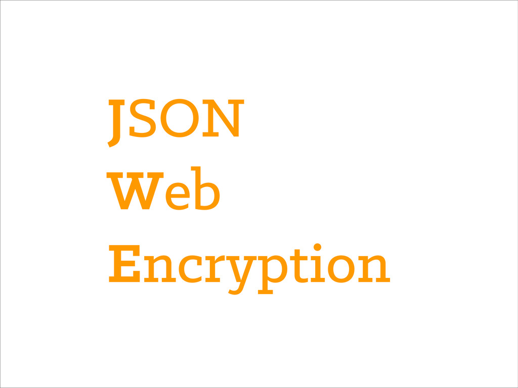 JSON Web Encryption