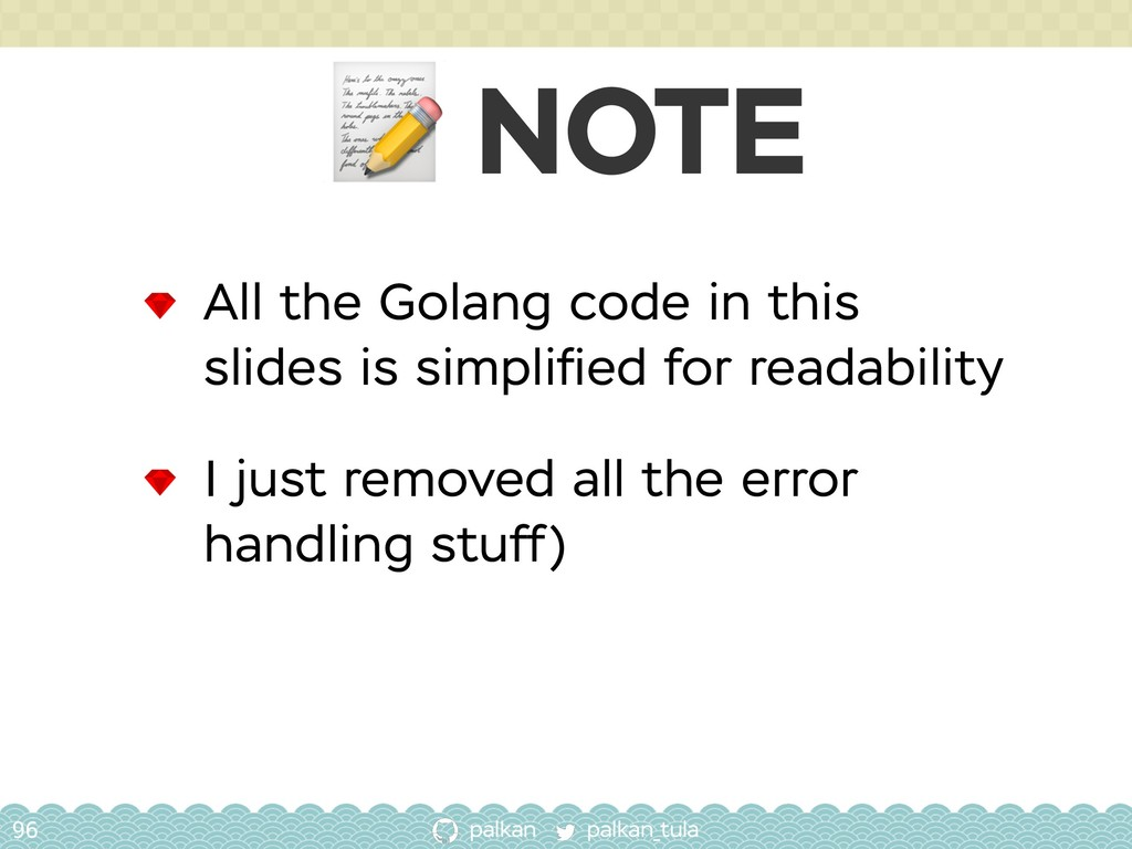 palkan_tula palkan  NOTE 96 All the Golang code...