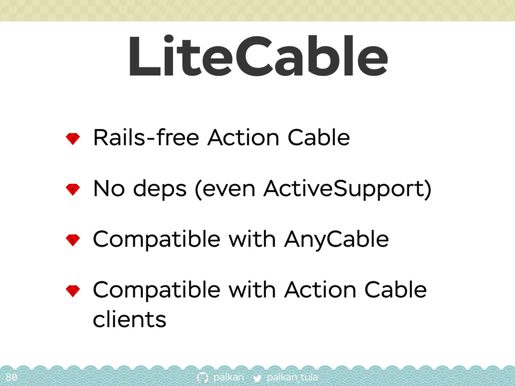 palkan_tula palkan LiteCable 80 Rails-free Acti...
