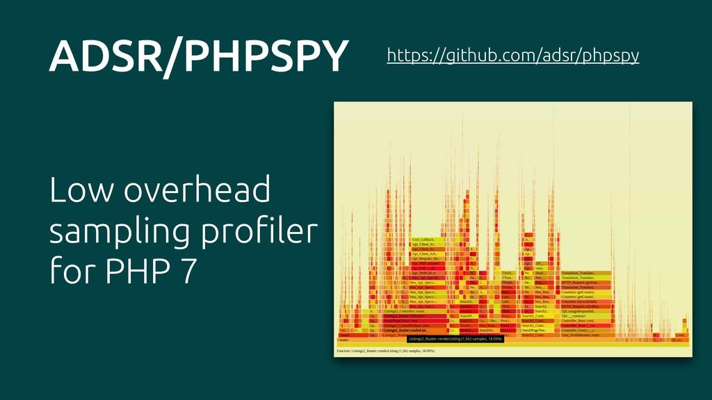 ADSR/PHPSPY Low overhead sampling profiler for ...