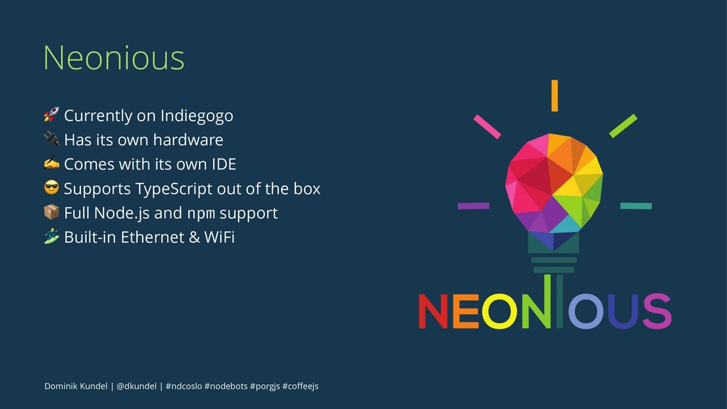"""Neonious ! Currently on Indiegogo """" Has its own..."""