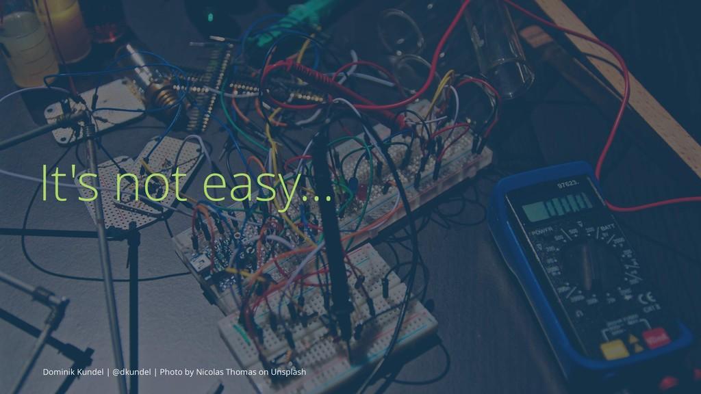 It's not easy... Dominik Kundel | @dkundel | Ph...