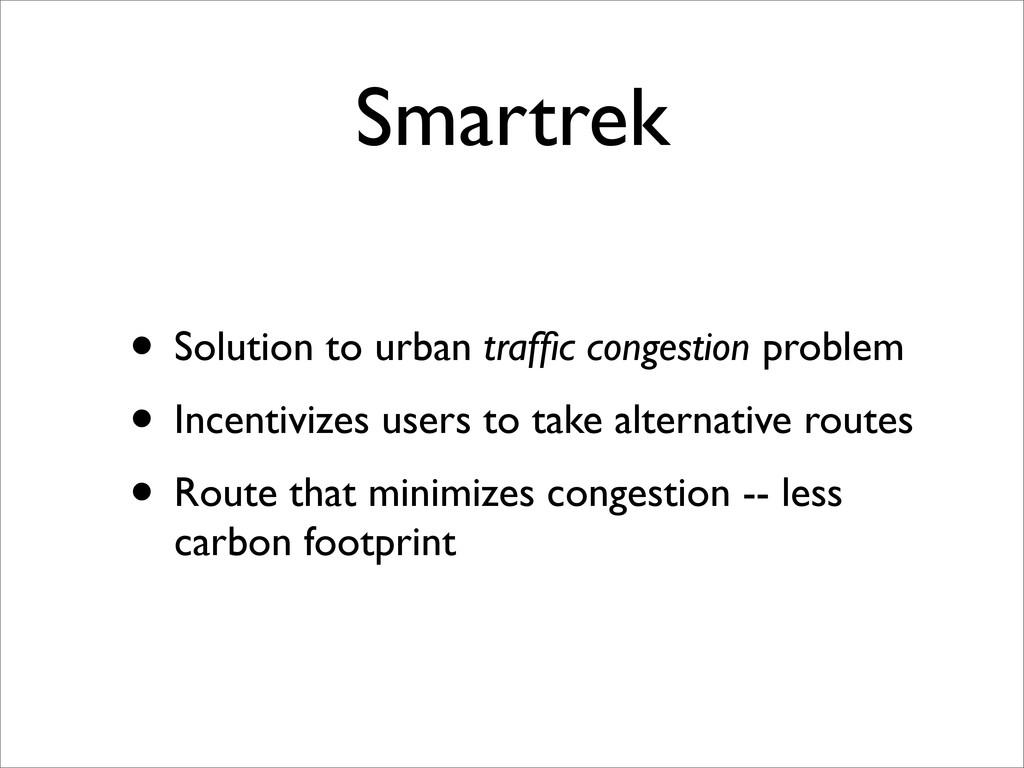 Smartrek • Solution to urban traffic congestion ...