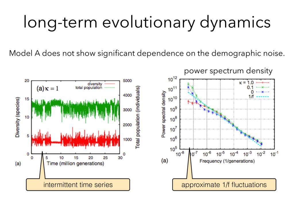 long-term evolutionary dynamics Model A does no...