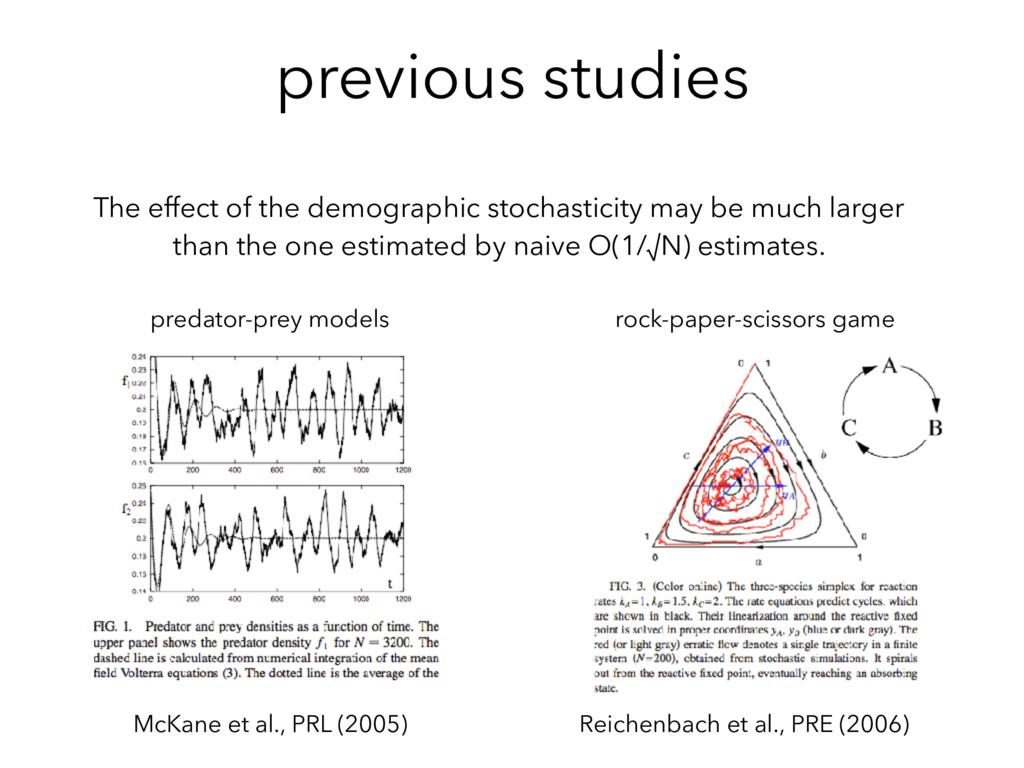 previous studies McKane et al., PRL (2005) pred...