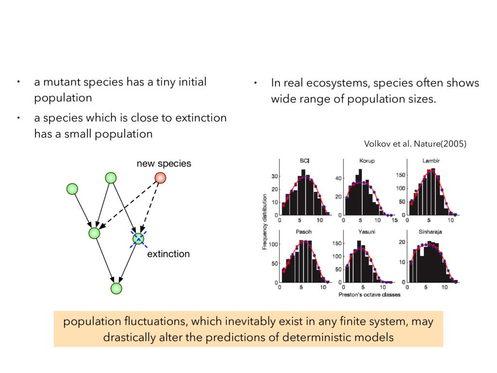 • a mutant species has a tiny initial populatio...