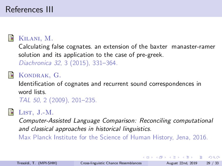 References III Kilani, M. Calculating false cog...