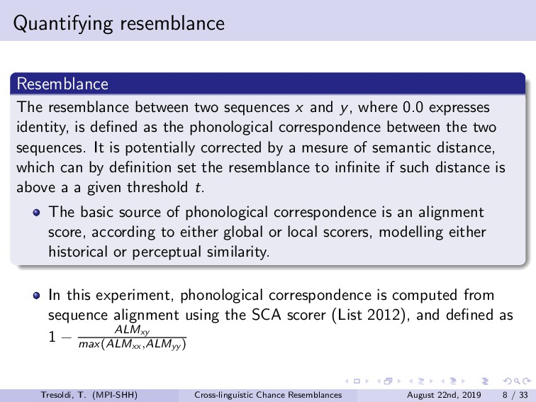 Quantifying resemblance Resemblance The resembl...
