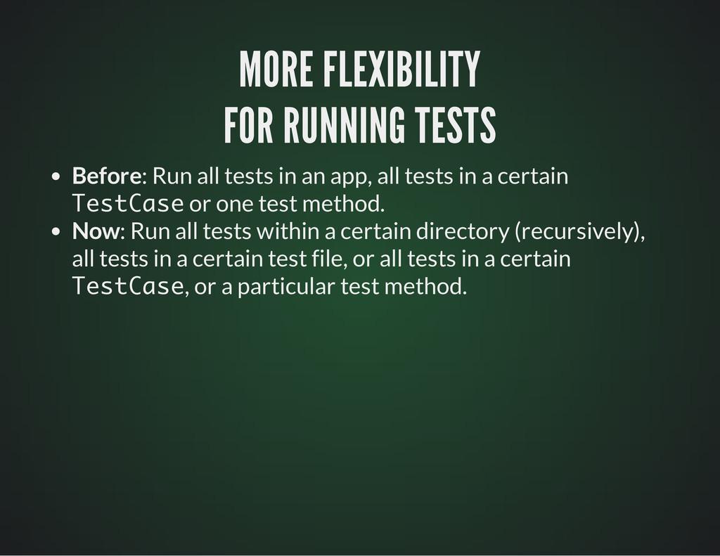MORE FLEXIBILITY MORE FLEXIBILITY FOR RUNNING T...