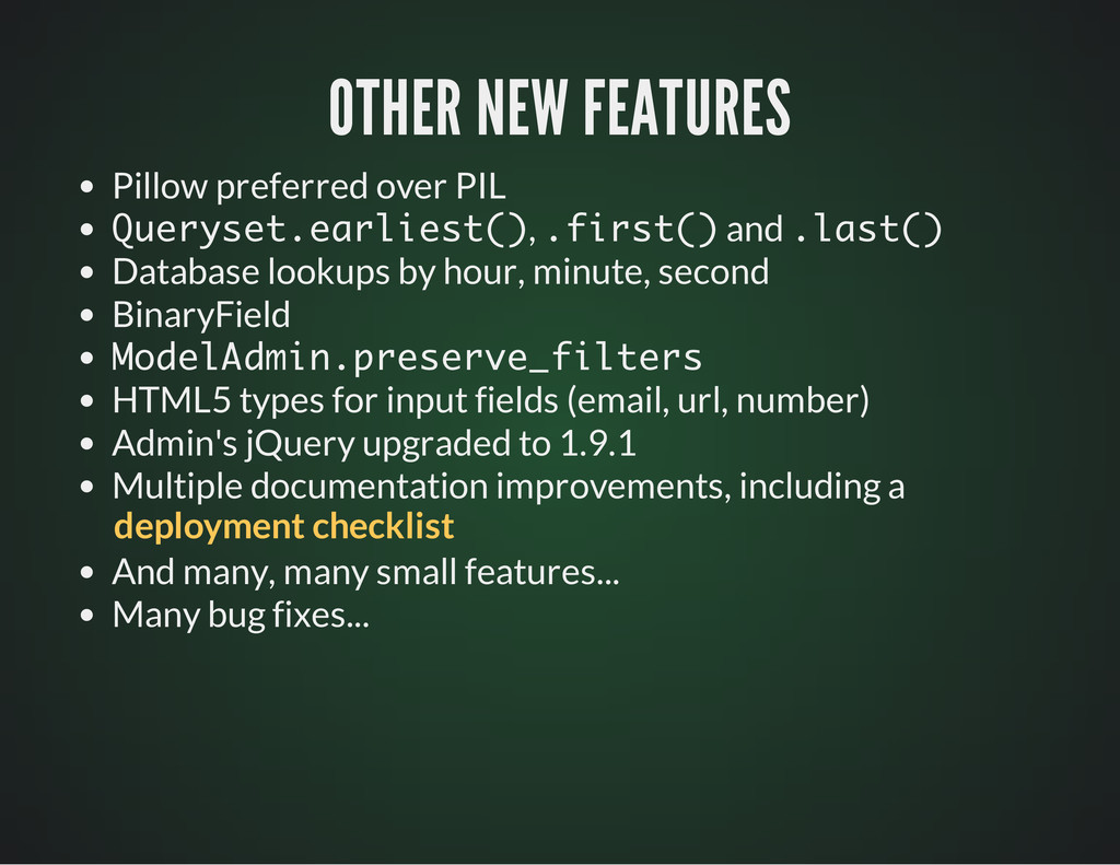 OTHER NEW FEATURES OTHER NEW FEATURES Pillow pr...