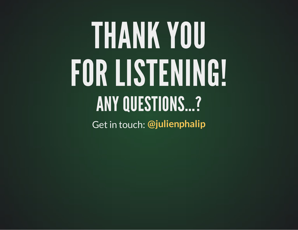 THANK YOU THANK YOU FOR LISTENING! FOR LISTENIN...