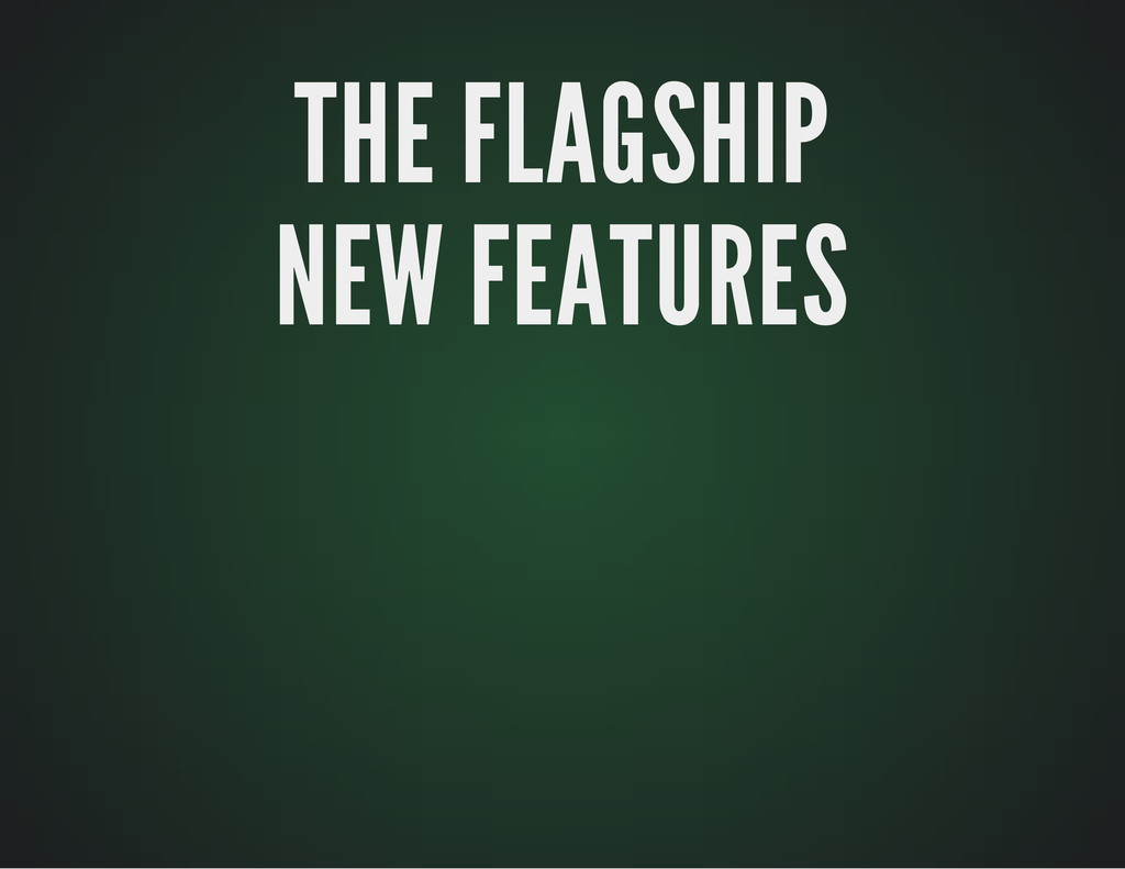 THE FLAGSHIP THE FLAGSHIP NEW FEATURES NEW FEAT...