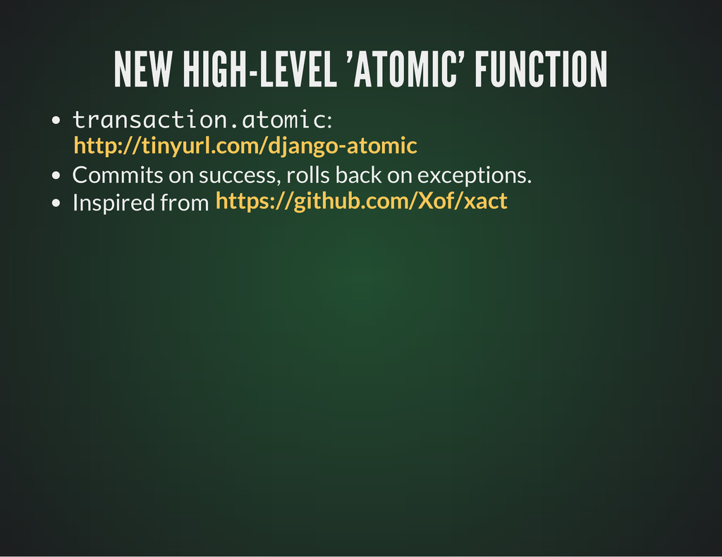 NEW HIGH-LEVEL 'ATOMIC' FUNCTION NEW HIGH-LEVEL...