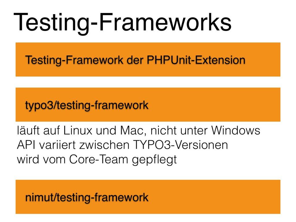 Testing-Frameworks Testing-Framework der PHPUni...