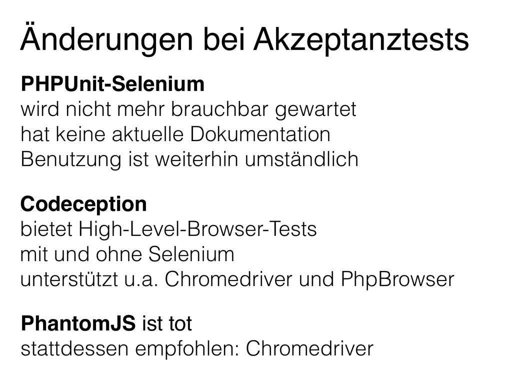 PhantomJS ist tot stattdessen empfohlen: Chrome...