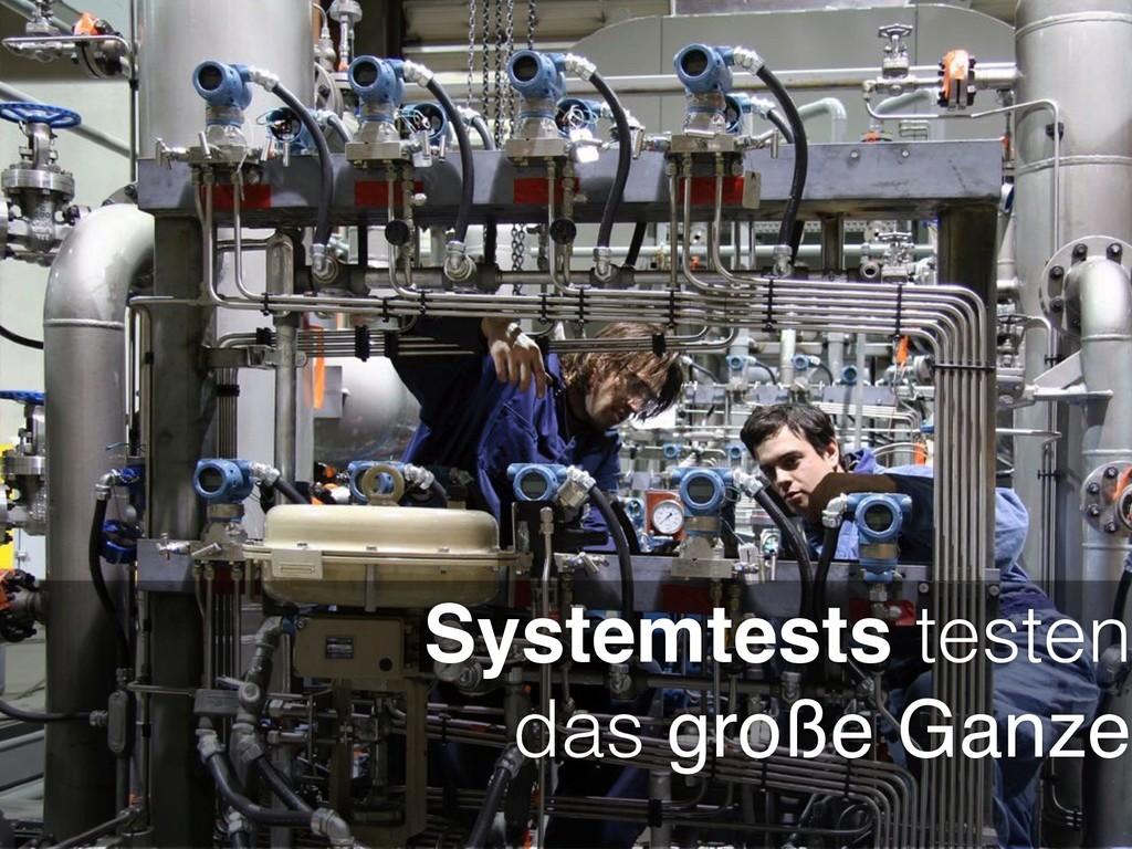 Systemtests testen das große Ganze